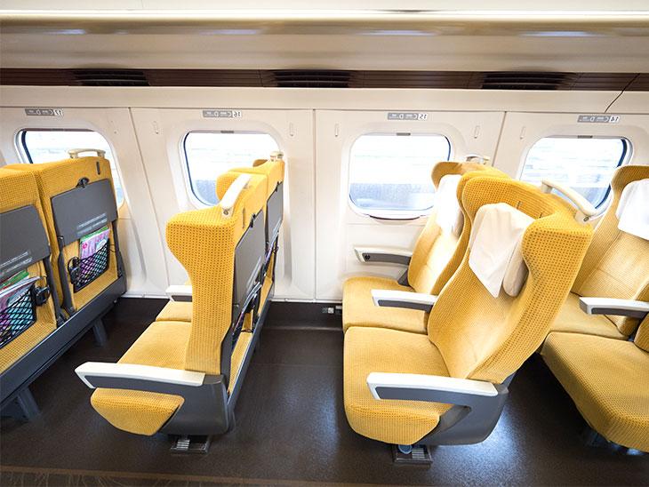 空いている新幹線の席