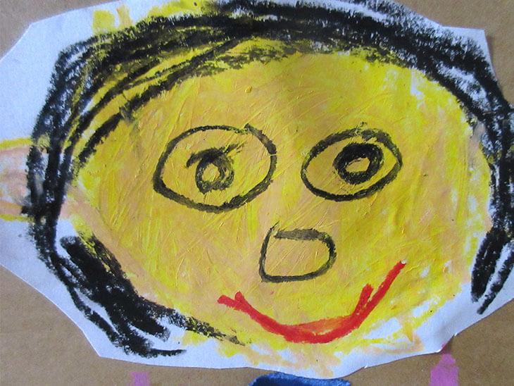 幼児が描いた絵