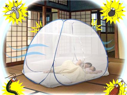 ワンタッチ蚊帳テント