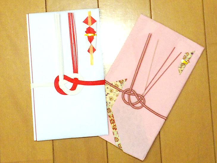 出産の内祝いのメッセージの封筒