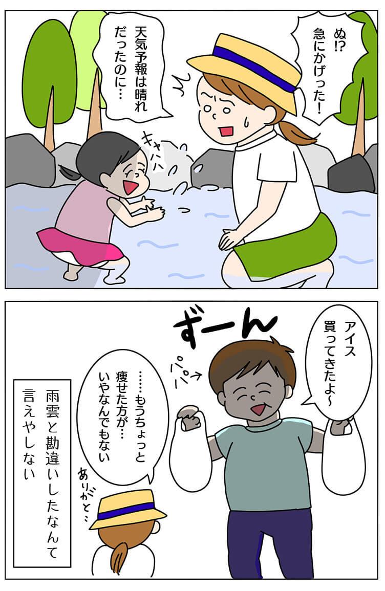雨雲は身近にあった4コマ漫画