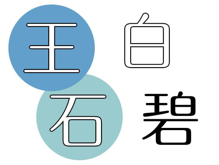 「碧」の字