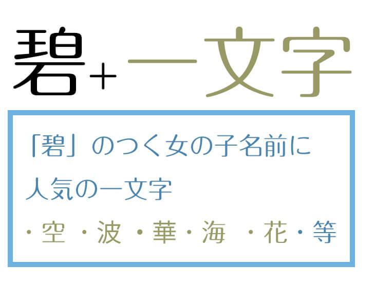 女の子の名で「碧」の字の組み合わせに人気の漢字