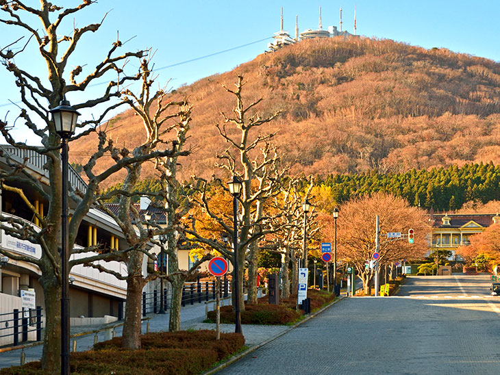 函館山と公会堂