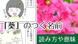 【葵】が名前に人気の理由~花言葉の意味まで眩しすぎる!