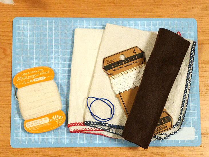 布製てるてる坊主の材料