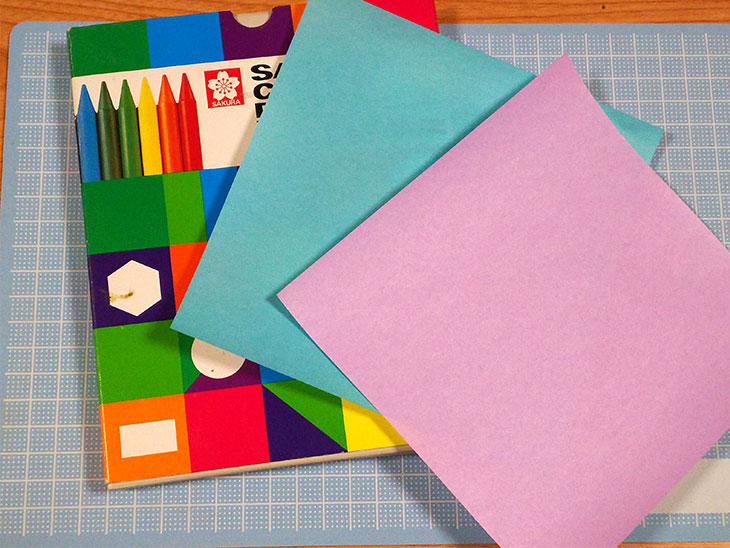 折り紙で作るてるてる坊主の材料