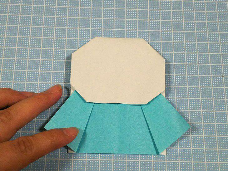 てるてる坊主の折り紙の原型