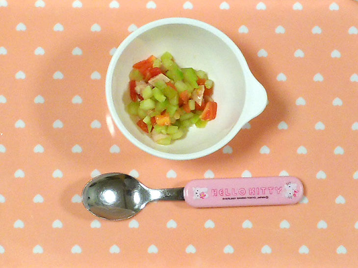 きゅうりのコロコロサラダの写真