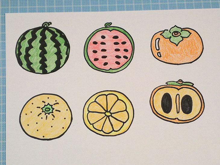 絵合わせカード用の果物のイラスト