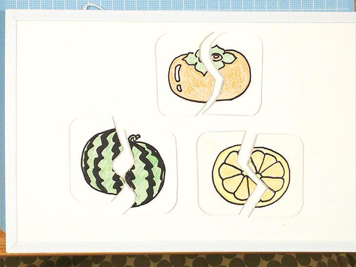 マグネットを使った絵合わせカードの完成