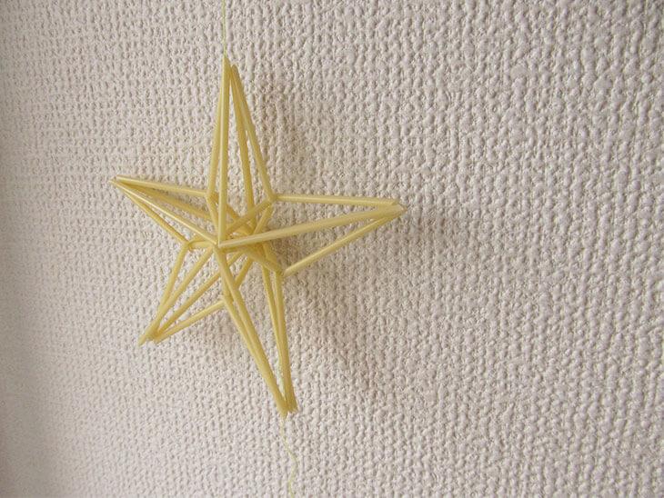 完成した星型のヒンメリ