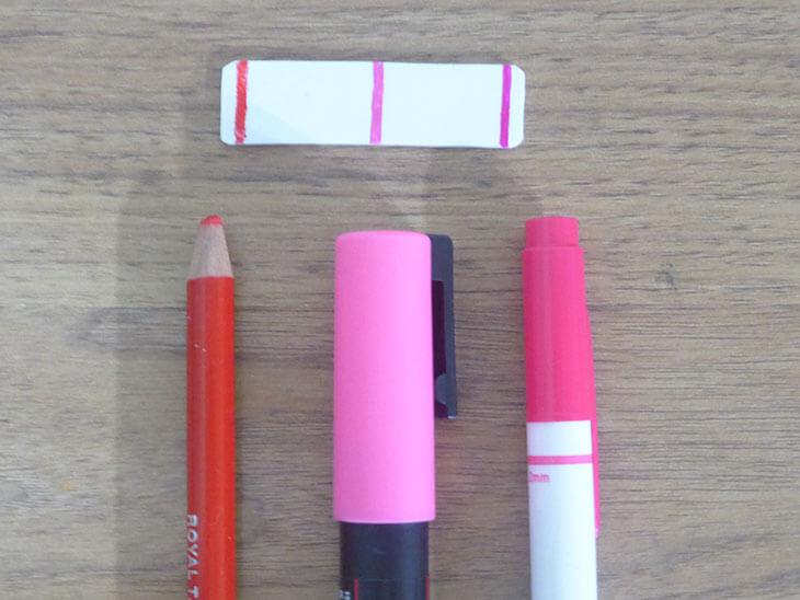 色鉛筆とポスカとマジックの色比べ