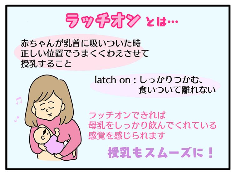 ラッチオンとはどのような授乳方法かのイラスト
