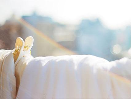 天日干しの布団
