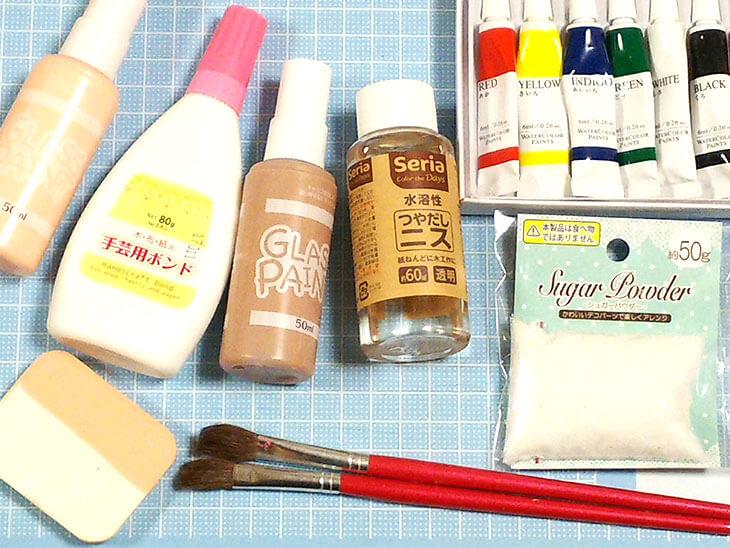 フェイクスイーツの着色に使う道具