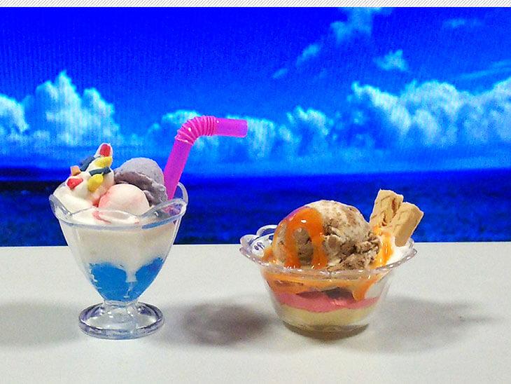 100均小物でアレンジしたパフェとアイスクリームのフェイクスイーツ