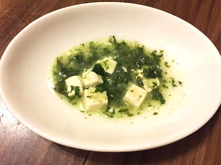 かぶの葉と豆腐のだし煮のレシピ