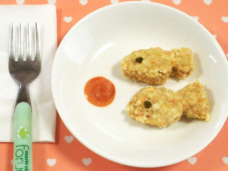 離乳食レシピ「お魚ナゲット」の完成品