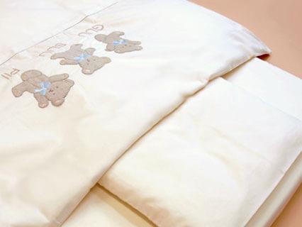 オーガニックコットン使用 ベビー用布団カバー3点セット