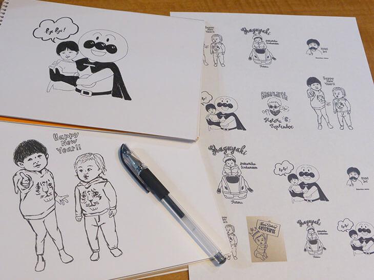 インス用にコピーした手書きイラスト