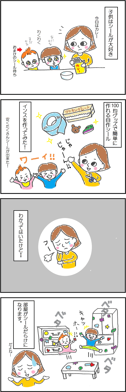 インスの作り方の4コマ漫画