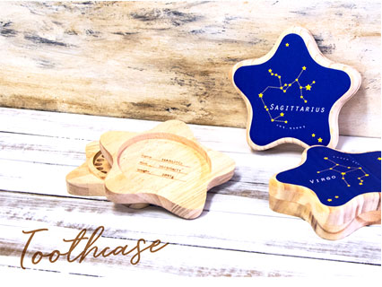 星の形の乳歯ケース