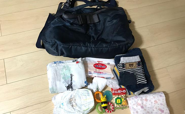 生後10ヶ月の赤ちゃんと一日中外出する時のマザーズバッグの中身