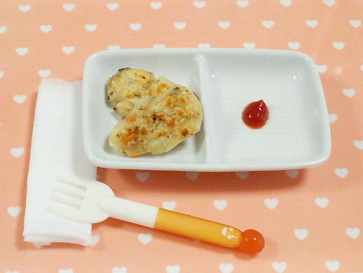 離乳食レシピ「レバーのチジミ」の完成品