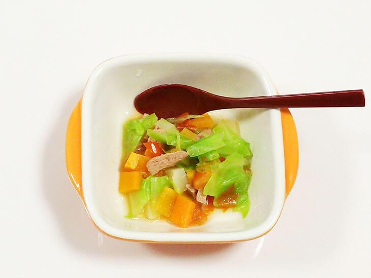 離乳食レシピ「レバーのトマト煮」の完成品