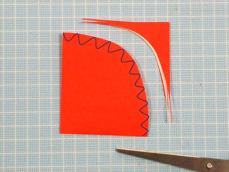 折り紙の平面カーネーションの折り方の工程2-1