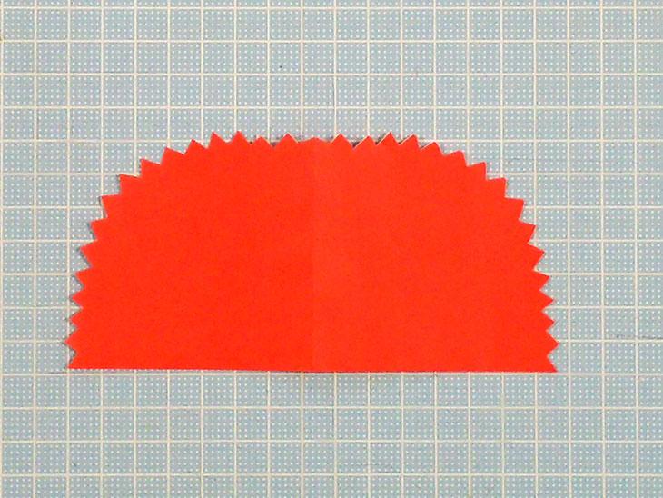 折り紙の平面カーネーションの折り方の工程2-2