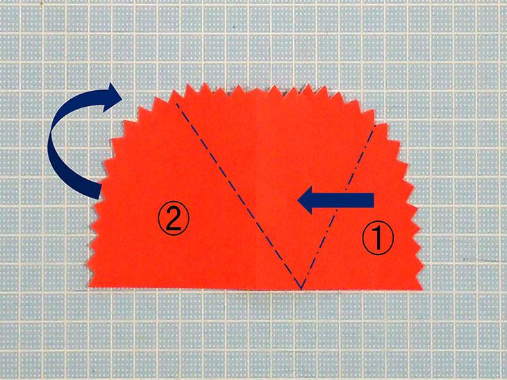 折り紙の平面カーネーションの折り方の工程3