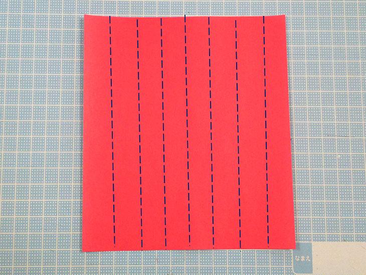 折り紙の八重の茎付き平面カーネーションの折り方の工程1