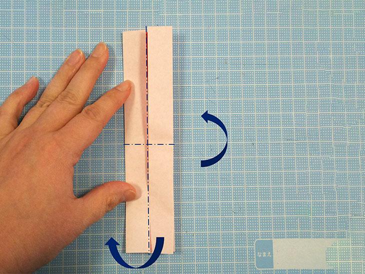 折り紙の八重の茎付き平面カーネーションの折り方の工程2