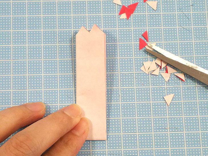 折り紙の八重の茎付き平面カーネーションの折り方の工程3