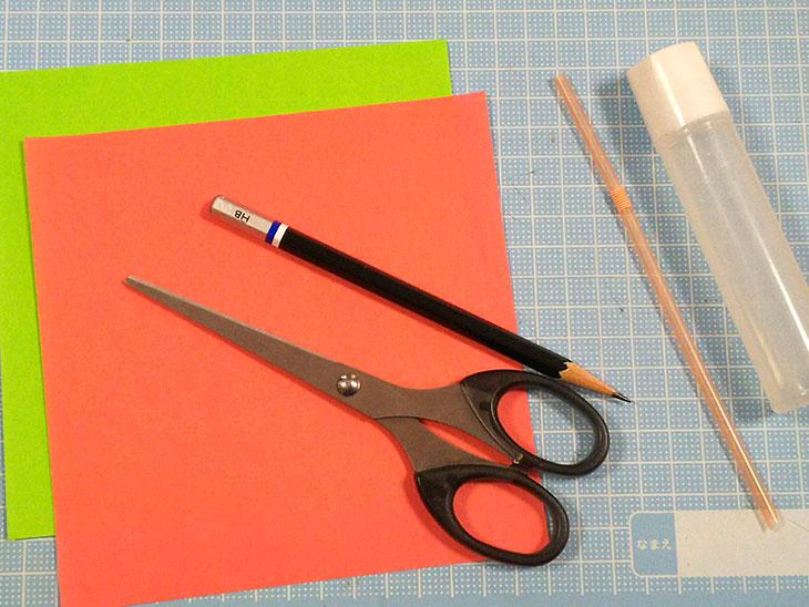 折り紙の立体カーネーションの材料