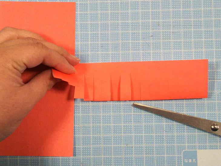 折り紙の立体カーネーションの工程1