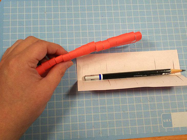 折り紙の立体カーネーションの工程2