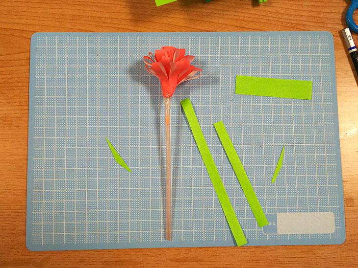 折り紙の立体カーネーションの工程3
