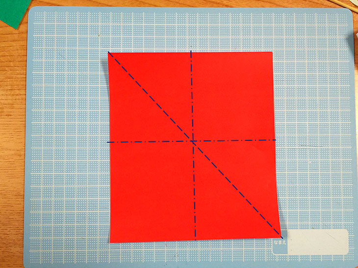 折り紙の本格的な立体カーネーションの工程1