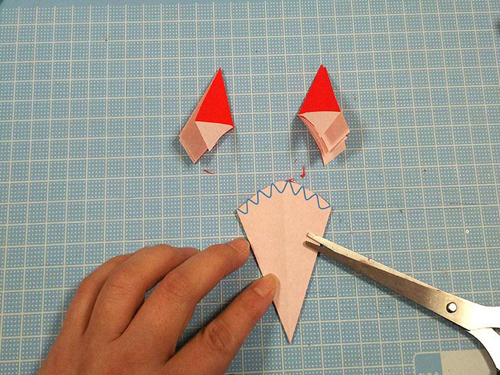 折り紙の本格的な立体カーネーションの工程3-1