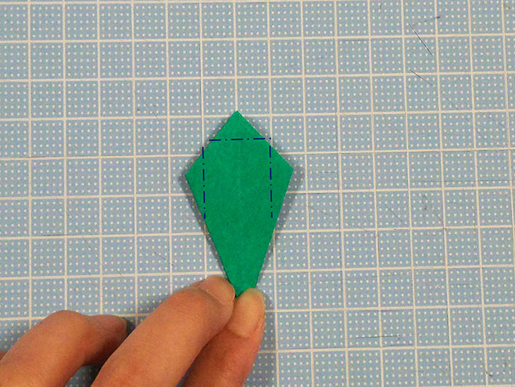 折り紙の本格的な立体カーネーションの工程6-3