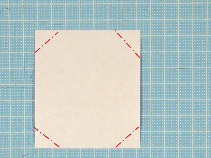 折り紙のフラットカーネーションの工程1-1