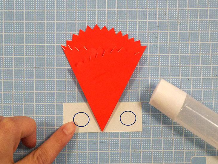 折り紙の平面カーネーションの折り方の工程4