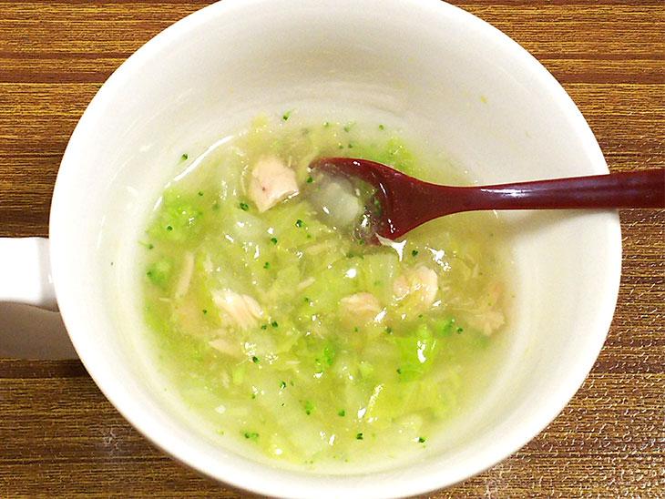 離乳食後期のツナ缶レシピ「ツナのとろみスープ」の完成品