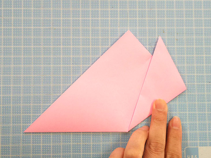 折り紙の桜の花びらの作り方の工程2-2