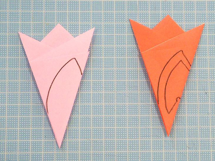 折り紙の桜の花びらの作り方の工程5