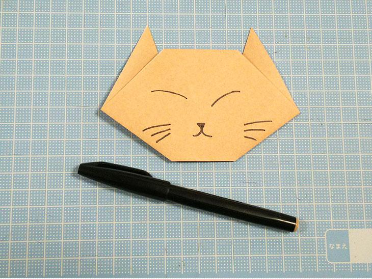 一番簡単な折り紙の猫の顔の折り方の手順4