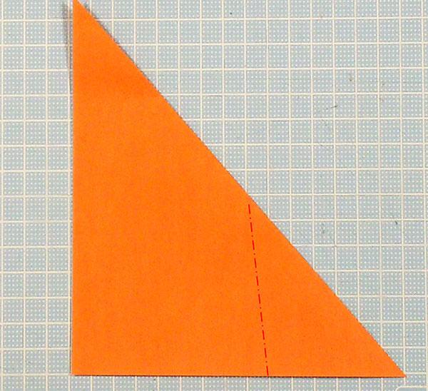 折り紙2枚の全身猫の折り方の手順4